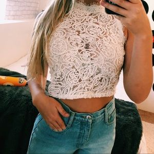 3 FOR 20 🌟 ZARA LACE CROP TOP SIZE SMALL